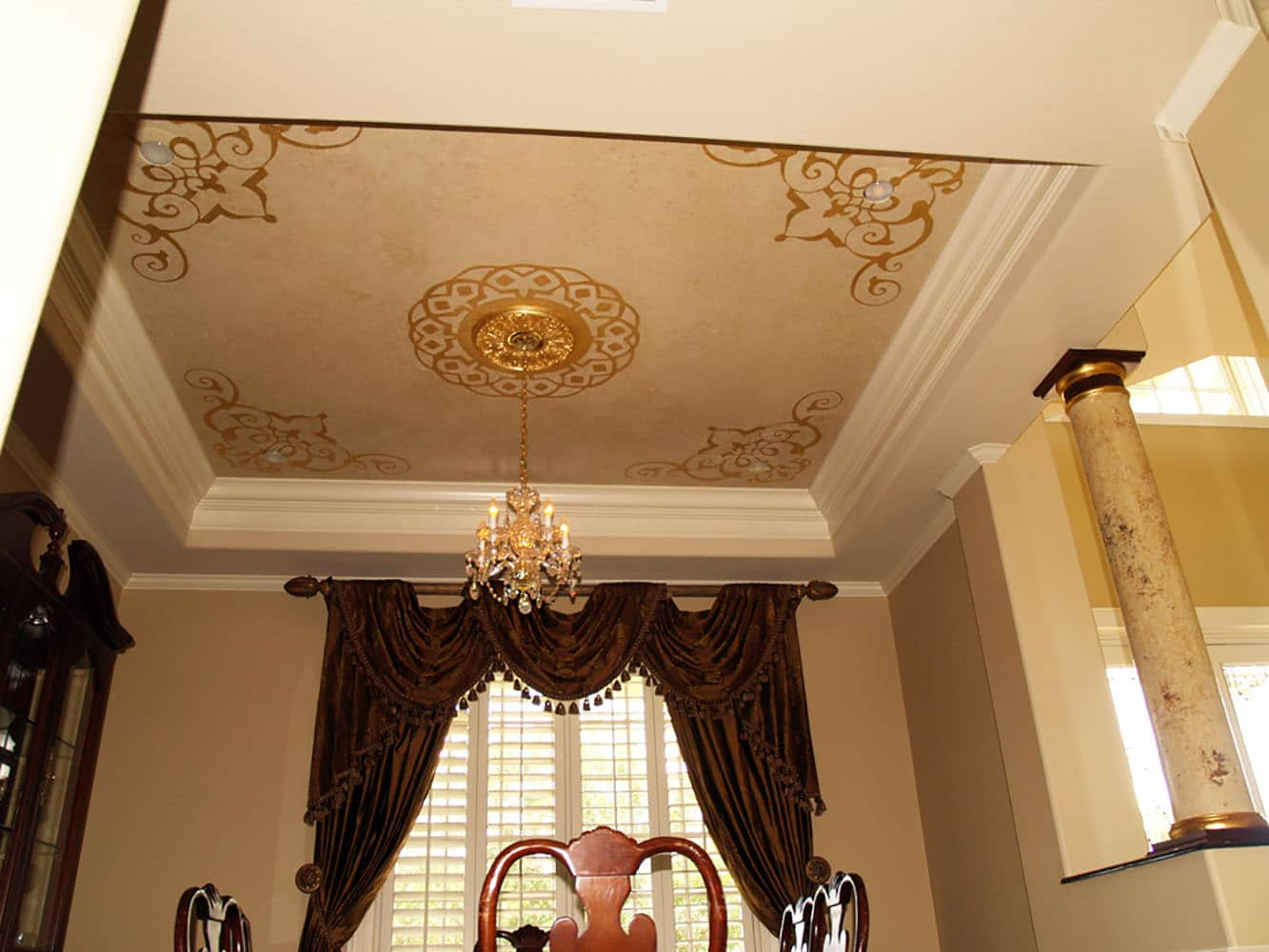 Gold Leaf Details On Ceiling