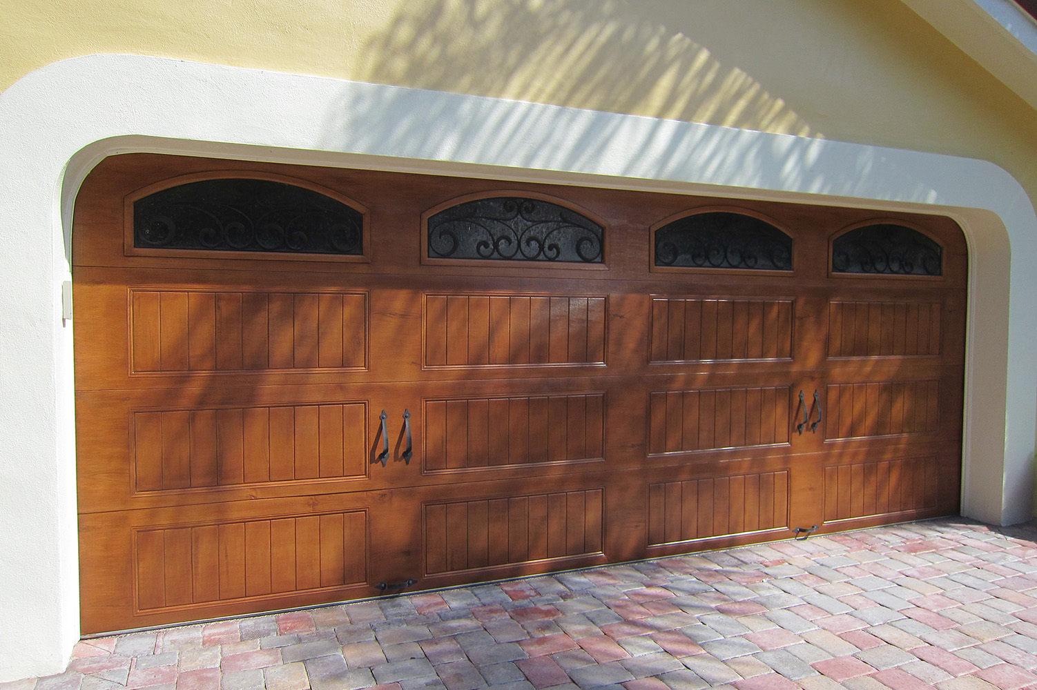 Faux wood painted garage doors - Faux Wood Grained Garage Door