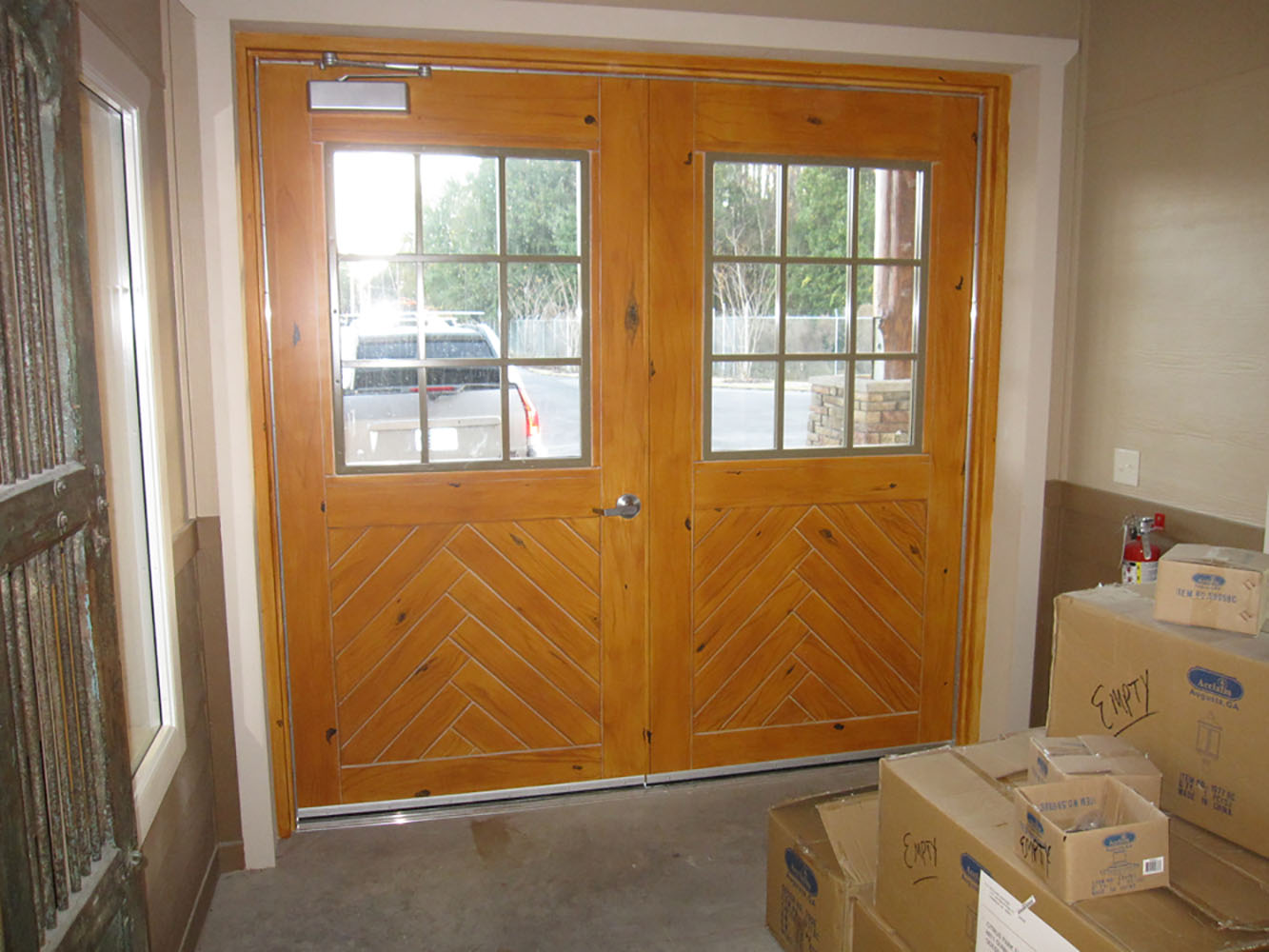 Faux wood grained doors & Faux Wood Stone Marble and More | Splat Paint | Tampa and St. Pete